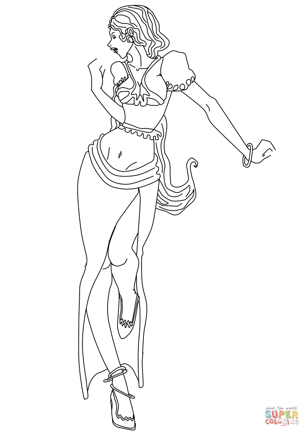 free fashion girl coloring pages - photo#11