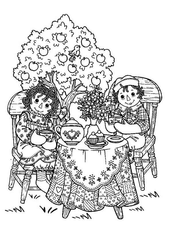 Coloring Pages Raggedy Ann - Coloring Home