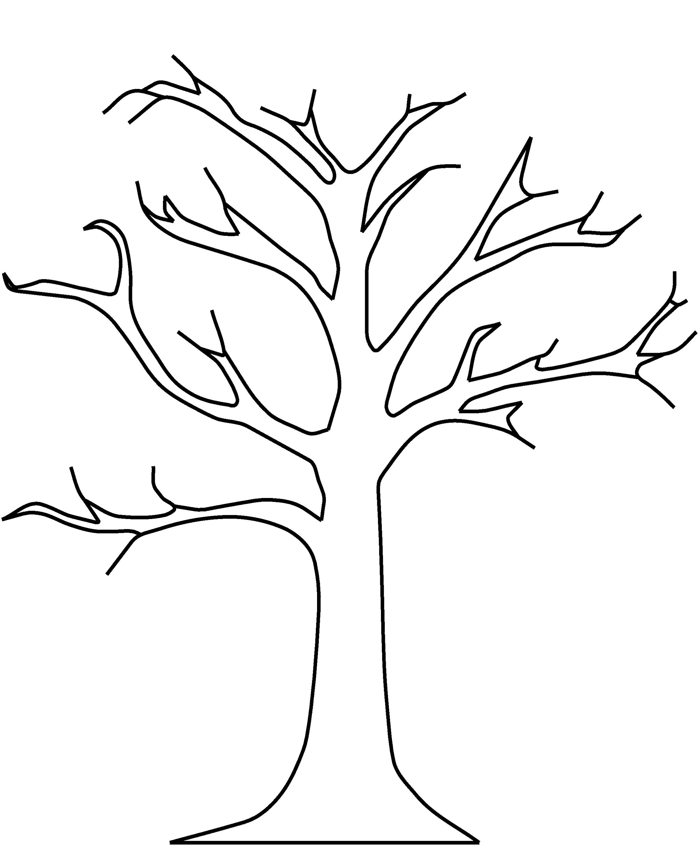 Best Photos of Tree Without Leaves Coloring Book - Trees without ...