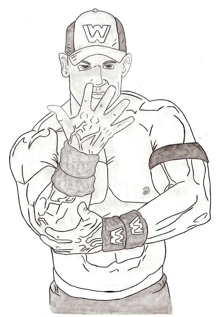 printable john cena coloring pages - photo#8
