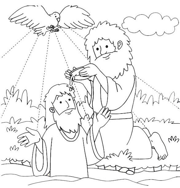 Crossing The Jordan River Coloring Pages
