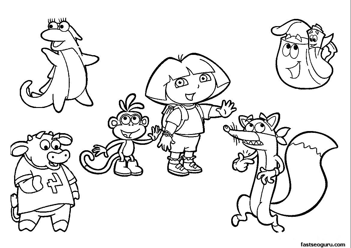 - Dora Explorer Coloring Pages Free Printable - Coloring Page Photos
