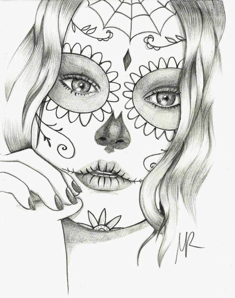 Sugar Skulls Coloring Pages Free Printable