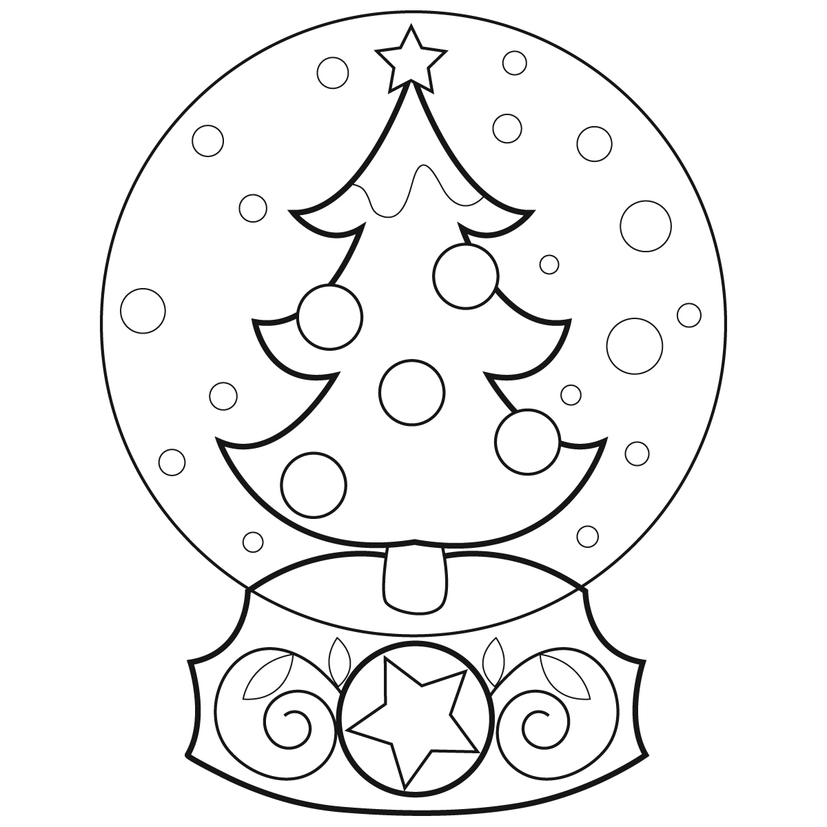 fox snow globe coloring pages - photo#28