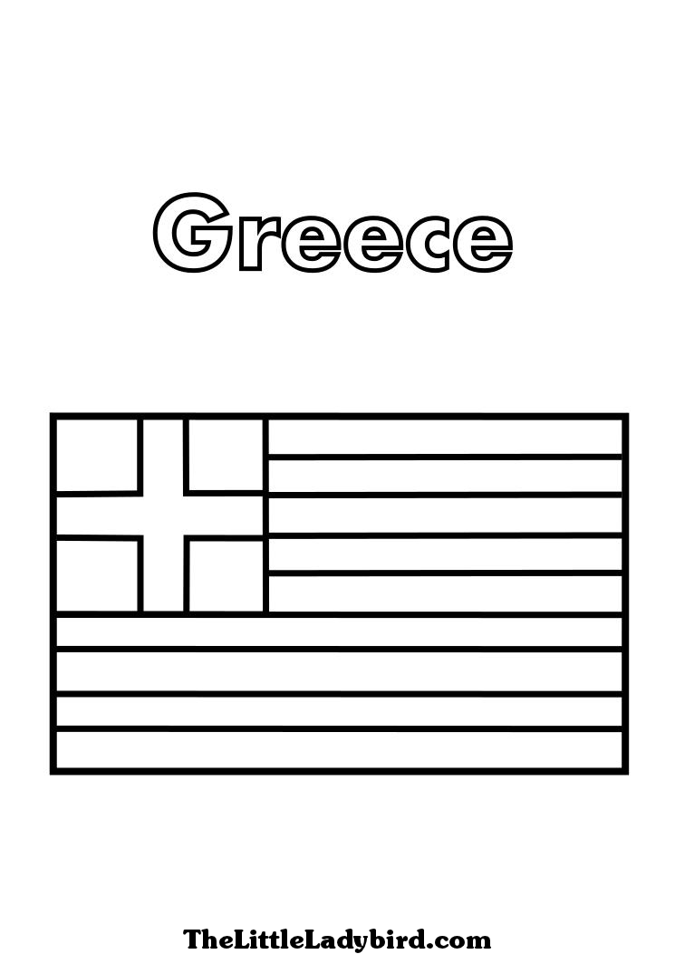 greek flag template greek flag coloring page az coloring pages