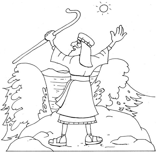 moses red sea coloring pages - photo#24