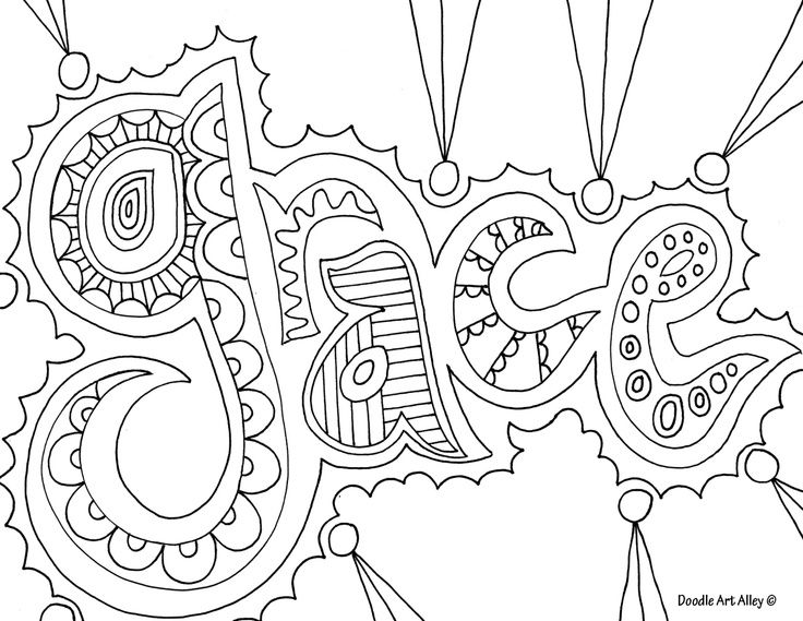 Coloring Pages Girls Names: Grace - Coloring Home