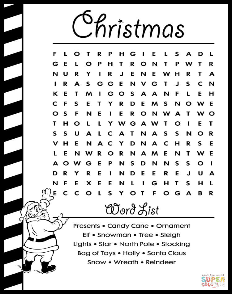christmas coloring pages puzzles - photo#6