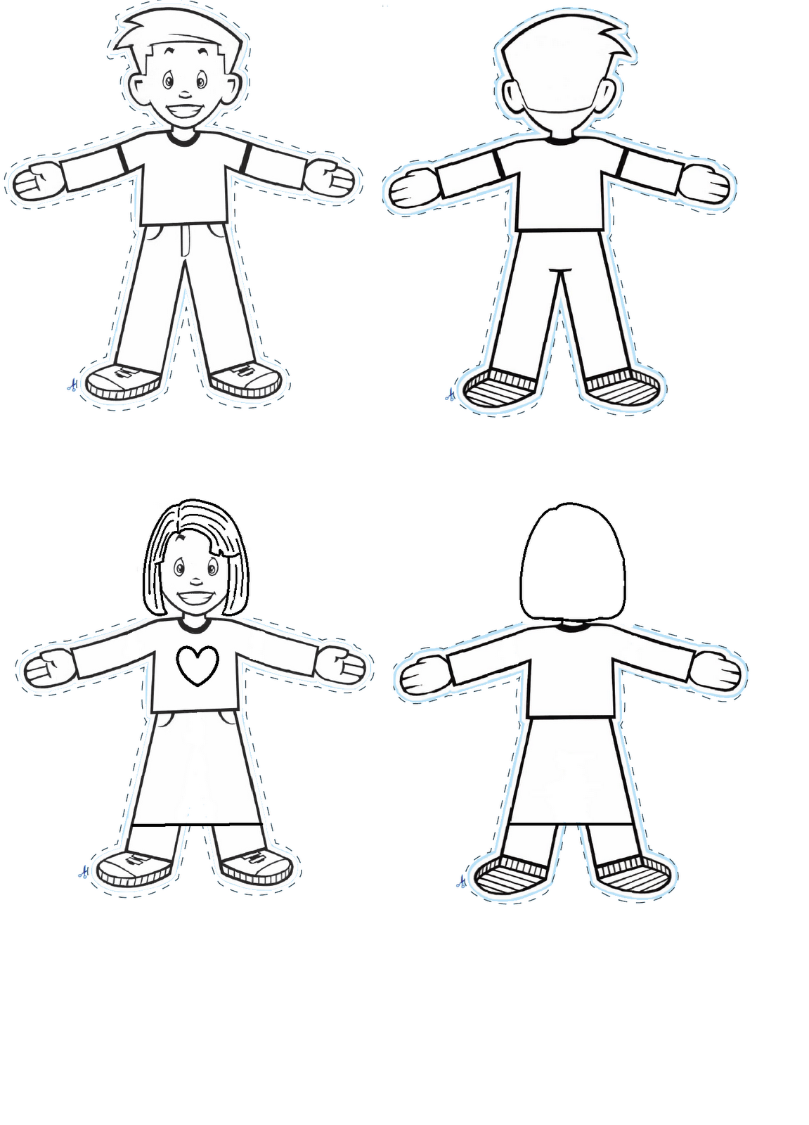 Flat stanley coloring page coloring home for Free printable flat stanley template