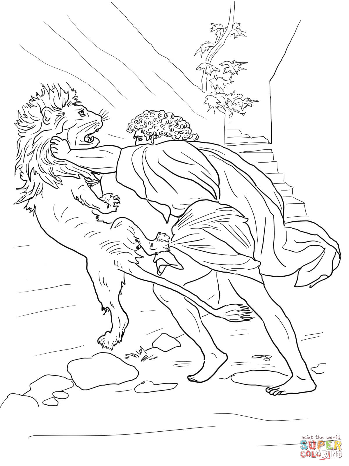 Free Printable Samson Coloring Pages