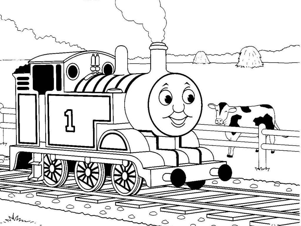 Coloring Pages: Thomas Tank Engine James Train Friends Coloring