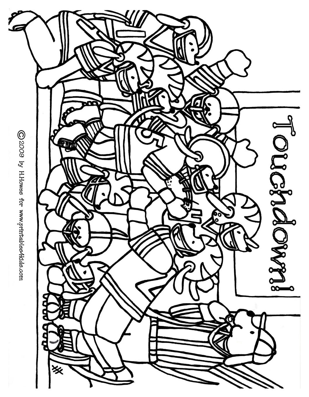 Football game coloring pages coloring home for Football color page