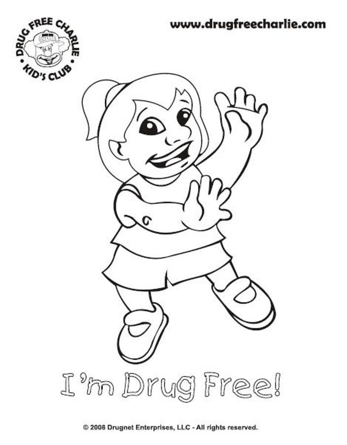 Just Say No To Drugs - Coloring Pages for Kids and for Adults