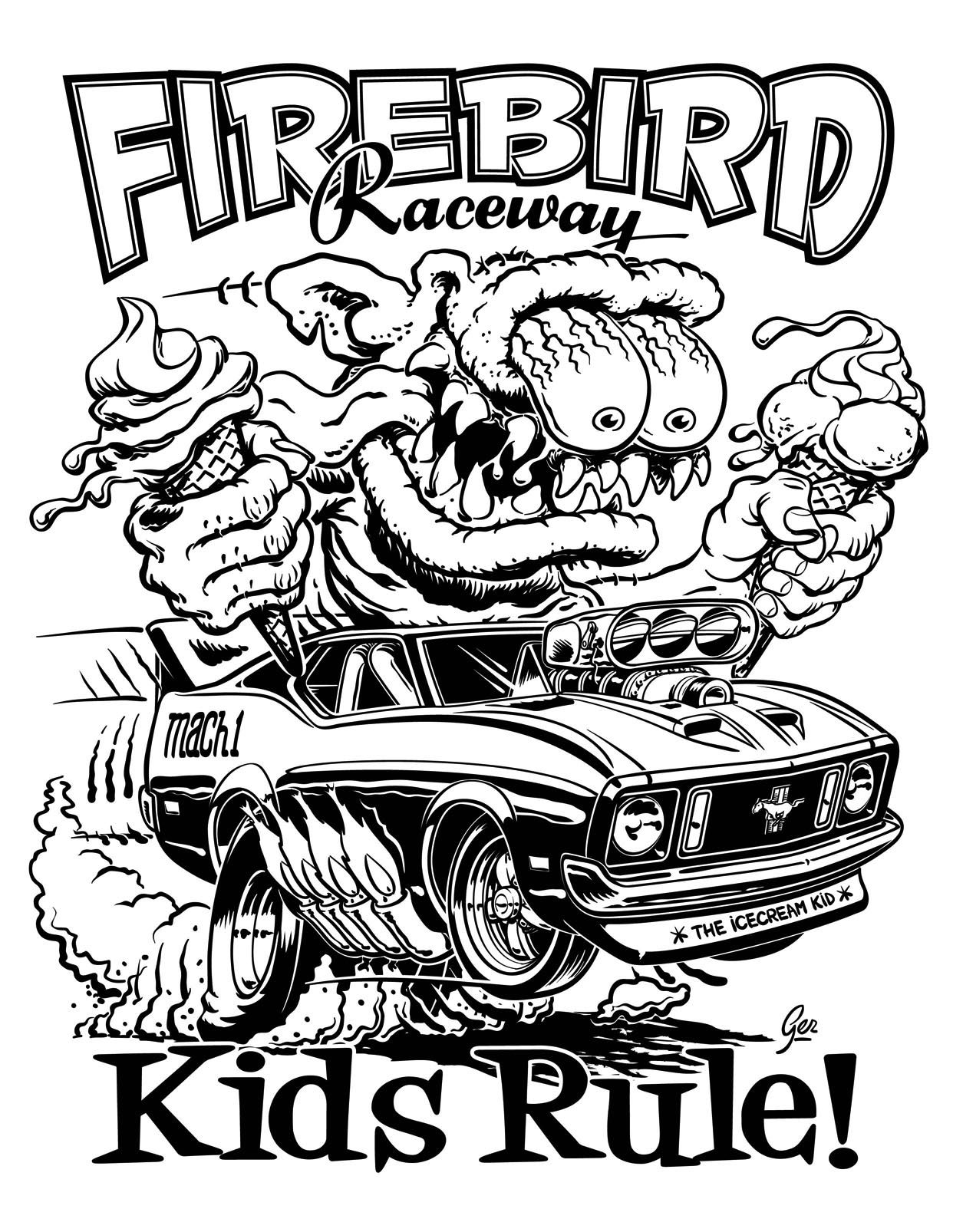 hot rod coloring pages - photo#10