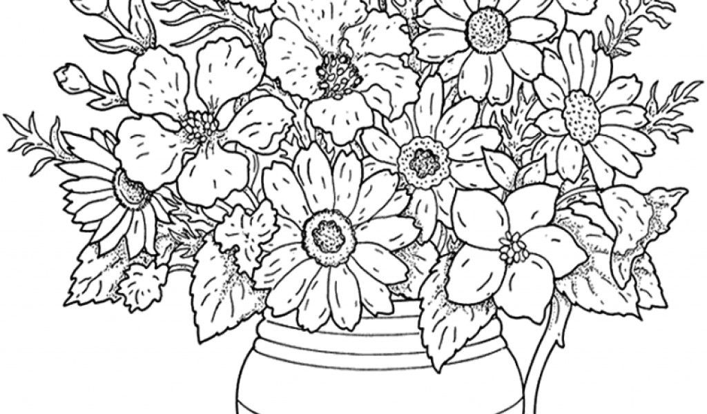 Adult Flower For Page Coloring Sheets Kids