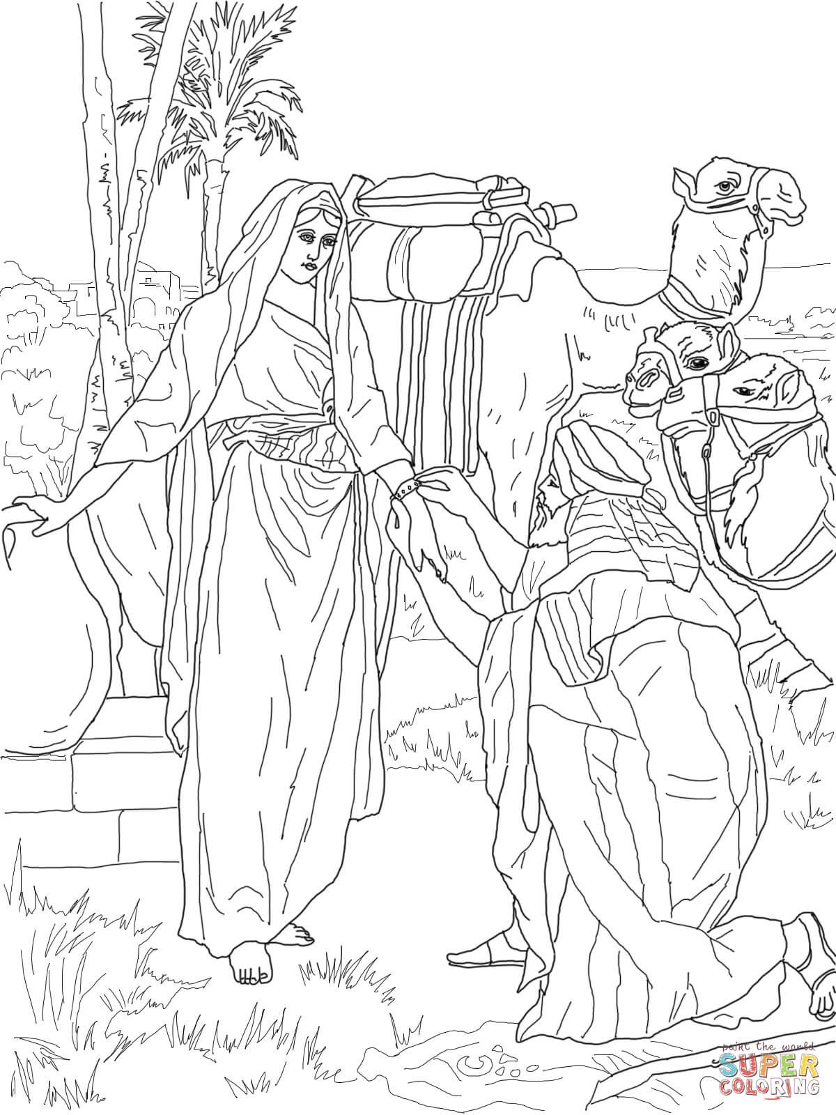 Baby Moses Coloring Page - Coloring Home