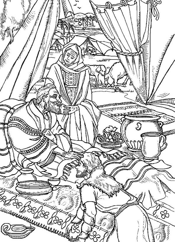 esaus birthright coloring pages - photo#25