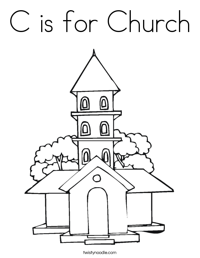 coloring pages of a church coloring home. Black Bedroom Furniture Sets. Home Design Ideas