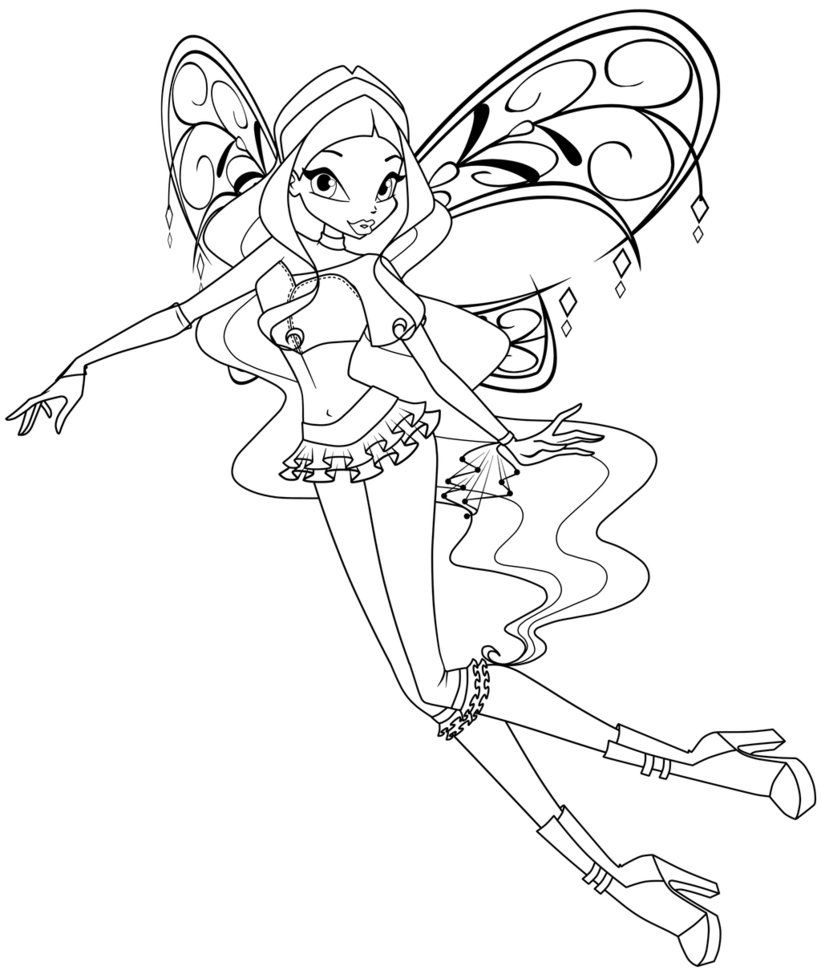 Winx Coloring Pages Pdf : Winx free colouring pages