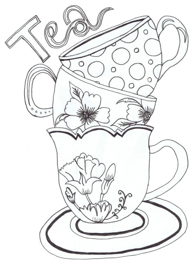 printable tea cup coloring pages - photo#16