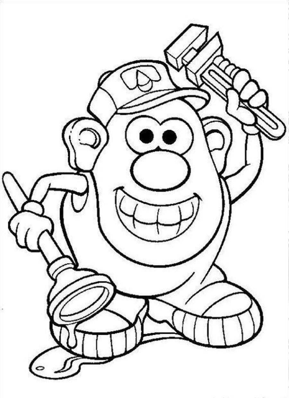 mr potato head coloring page coloring home