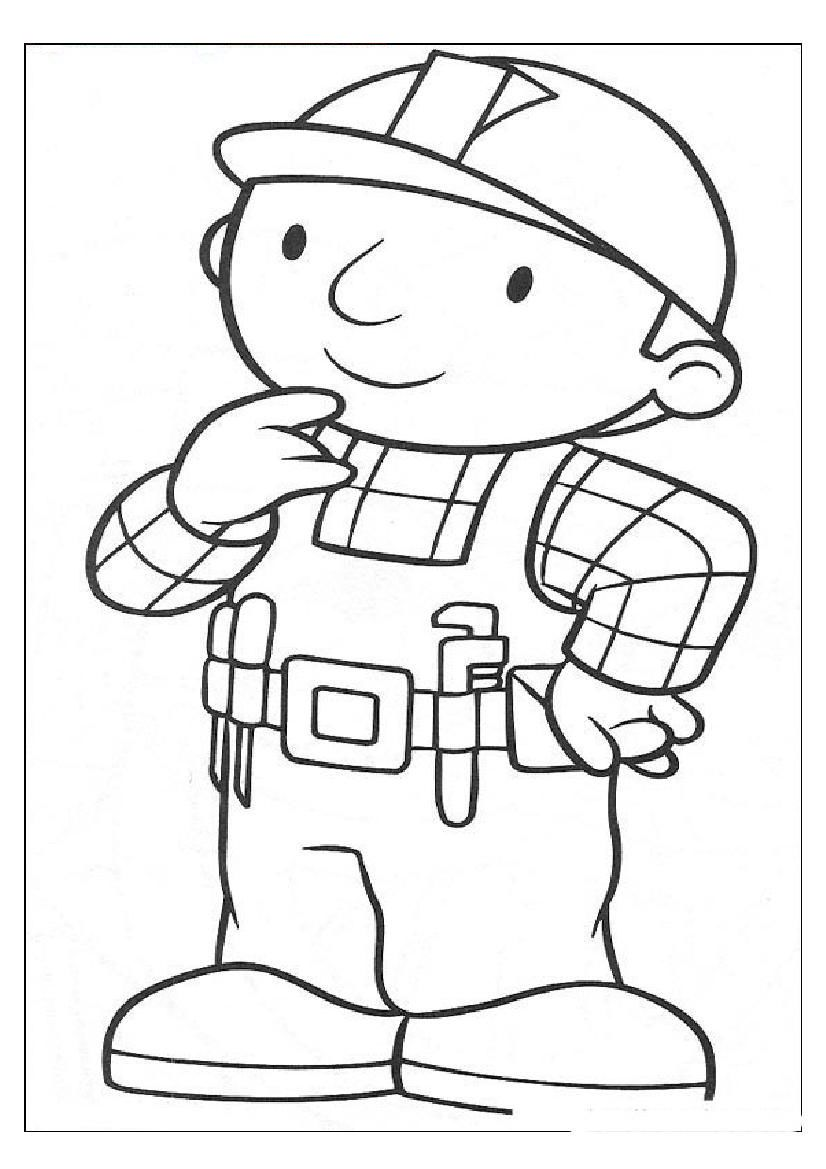 Bob the builder coloring pages to print coloring home for Bob the builder coloring page