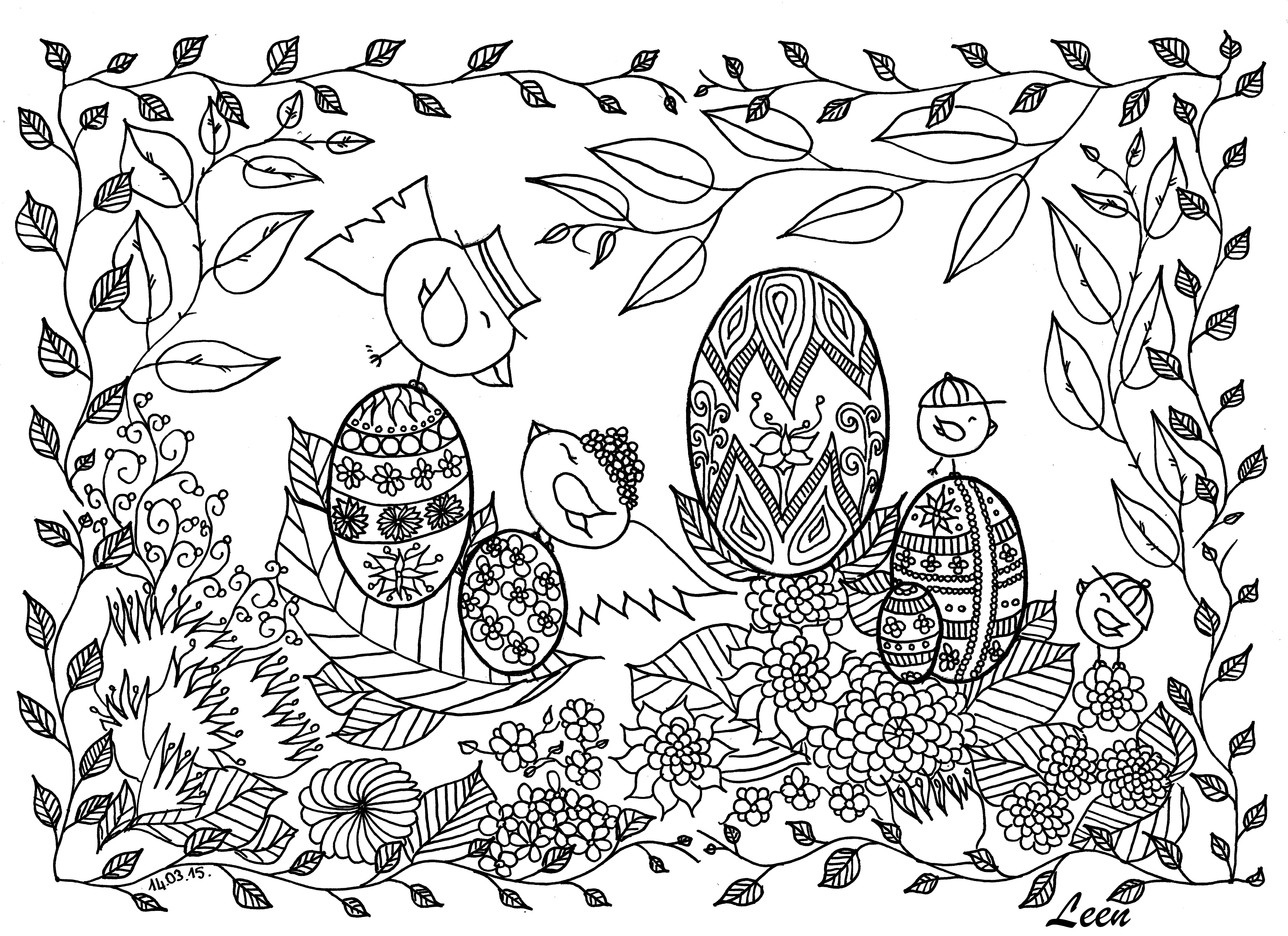easter coloring pages for adults - photo#29
