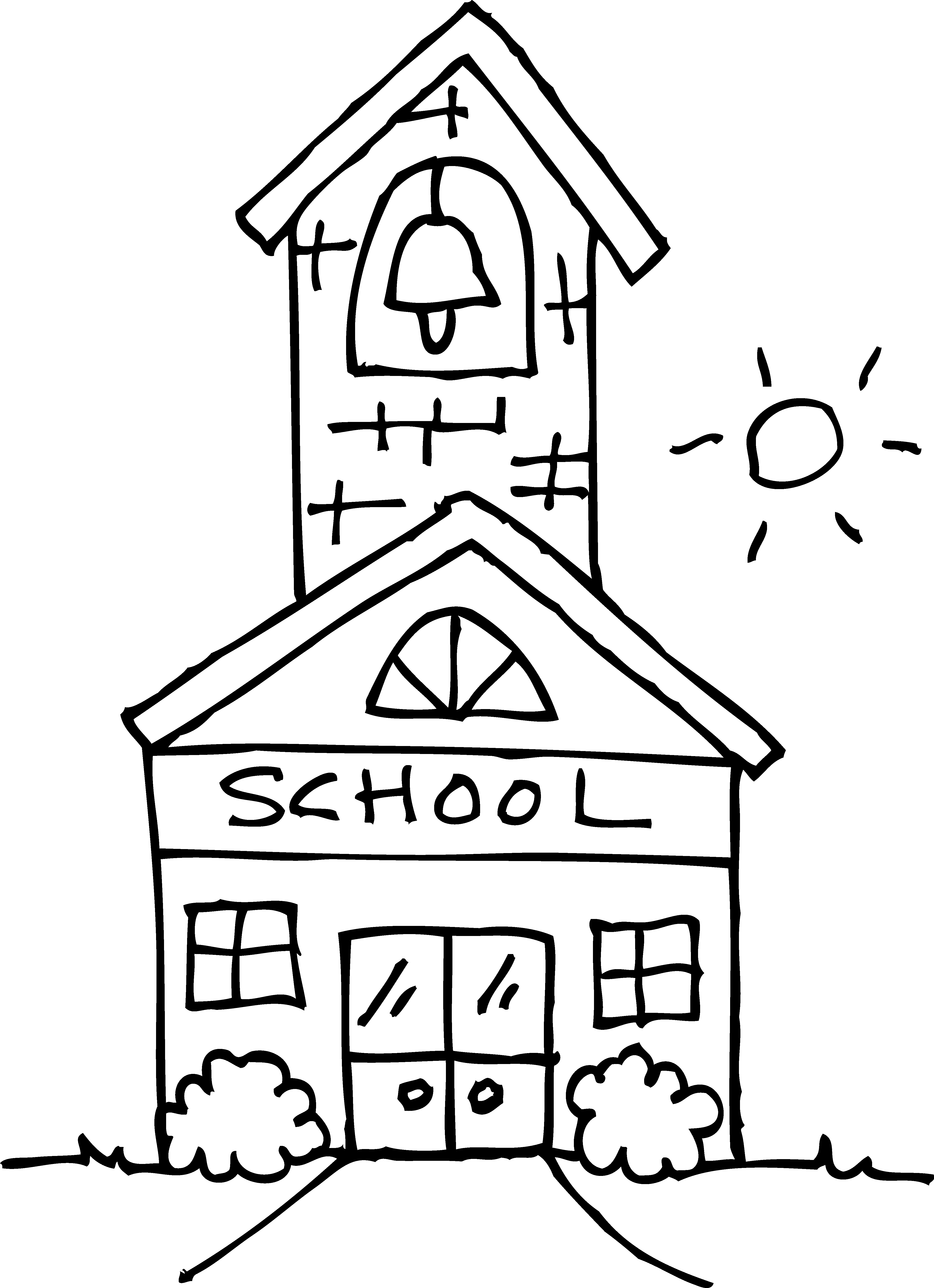 school building coloring pages - photo#10
