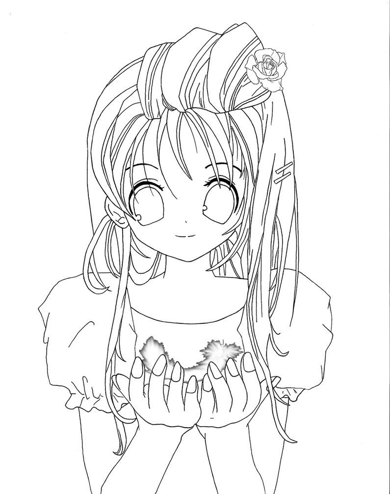 cute anime face girls coloring pages coloring home