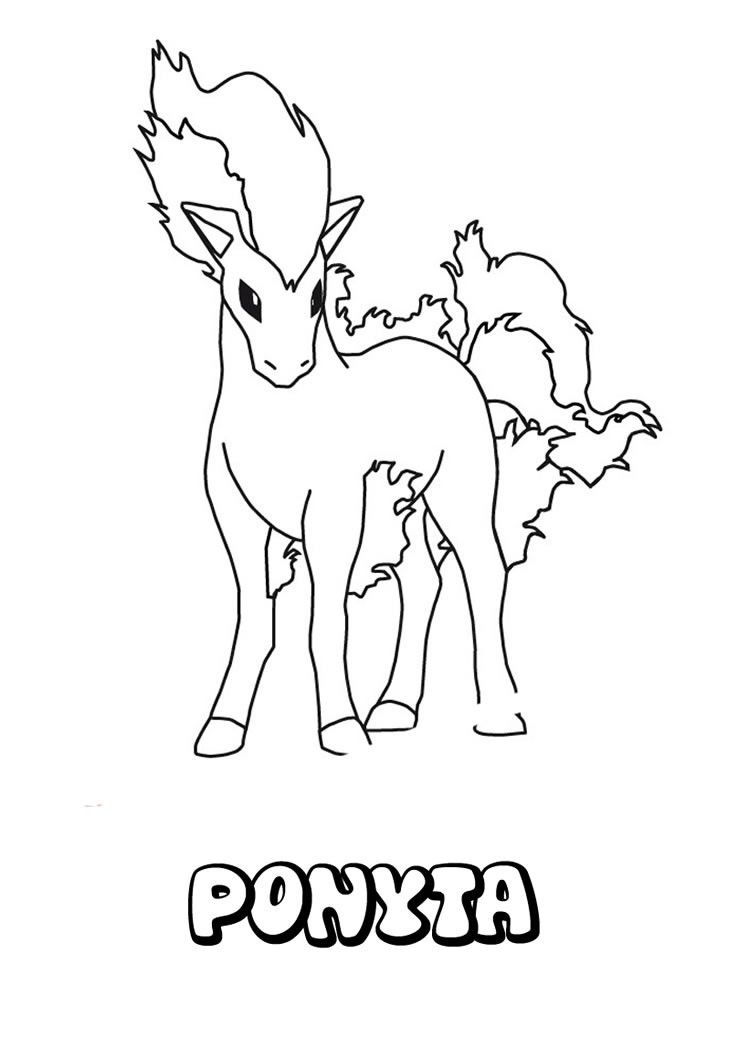 Pokemon Ponyta Coloring Pages - Coloring Home