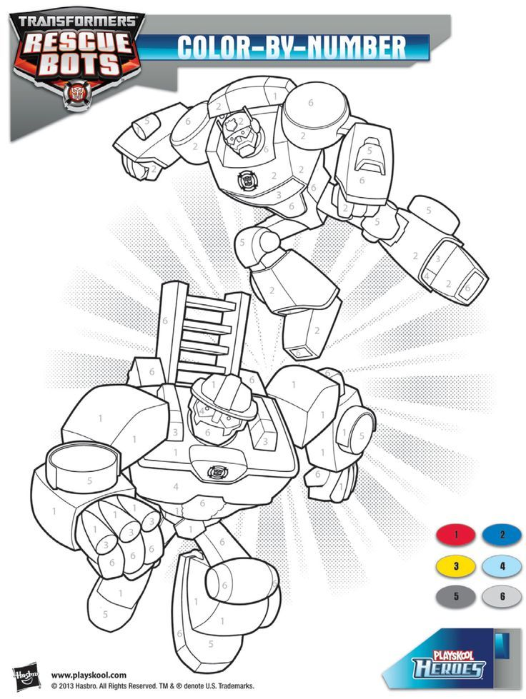 Coloring Pages Rescue Bots Coloring