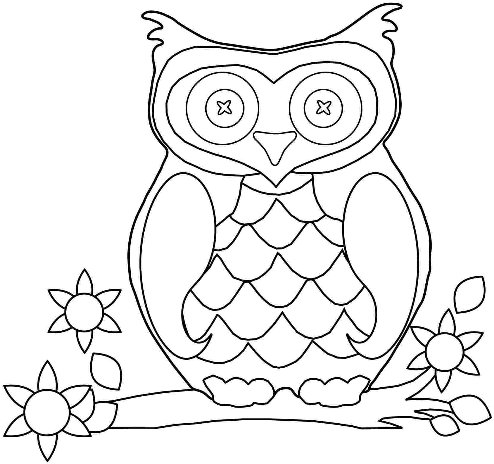 Cute Owl Coloring Pages To Print Cute Owl Coloring Pages. Kids ...