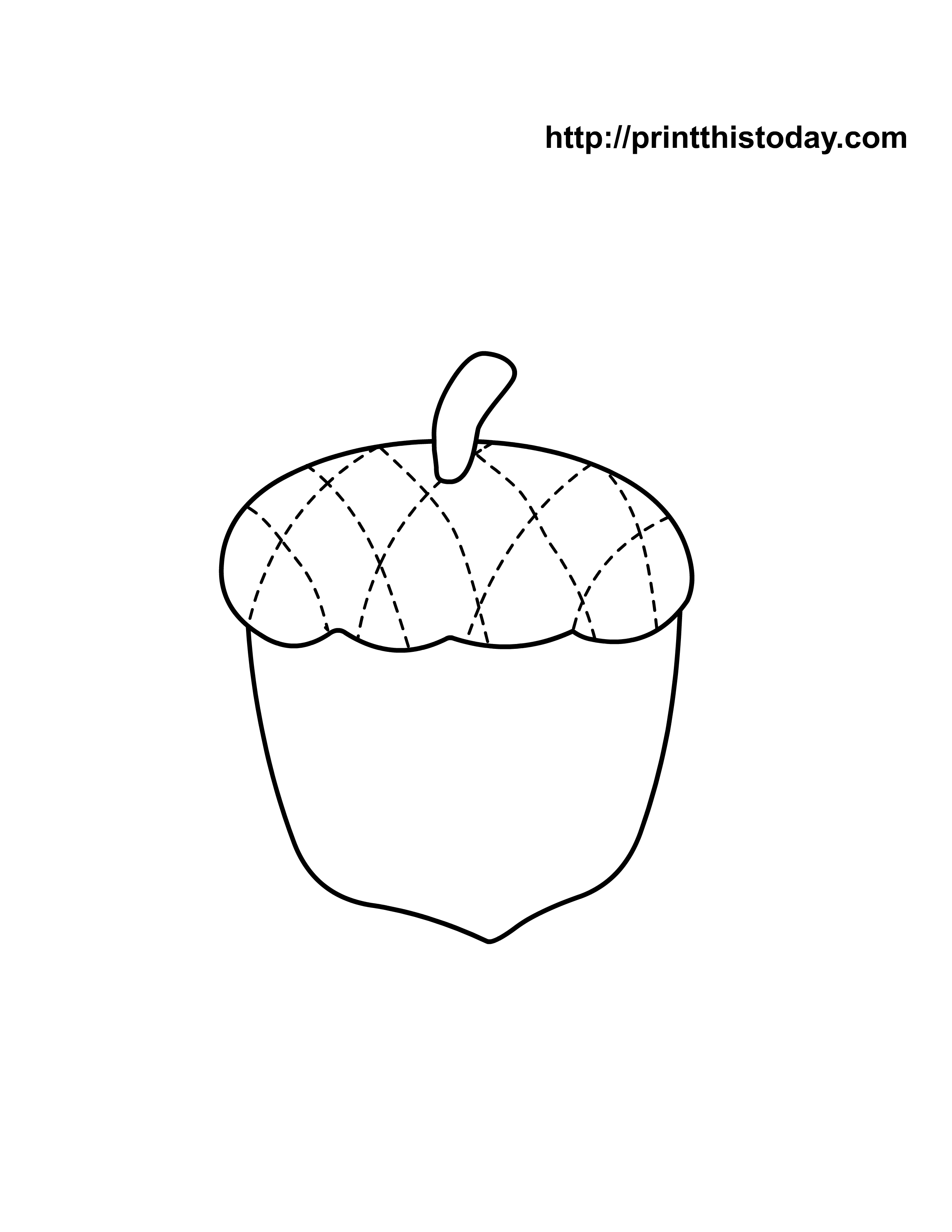 Acorn Template | 9 Pics Of Acorn Template Coloring Page Acorn Coloring Page Leaf