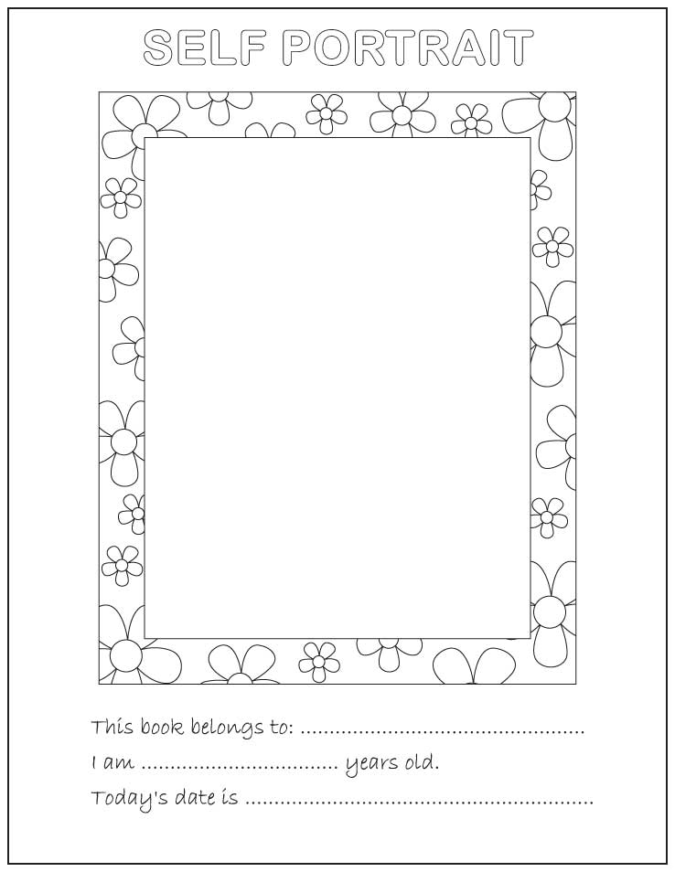 About Me Coloring Pages Coloring Home Self Portrait Coloring Page