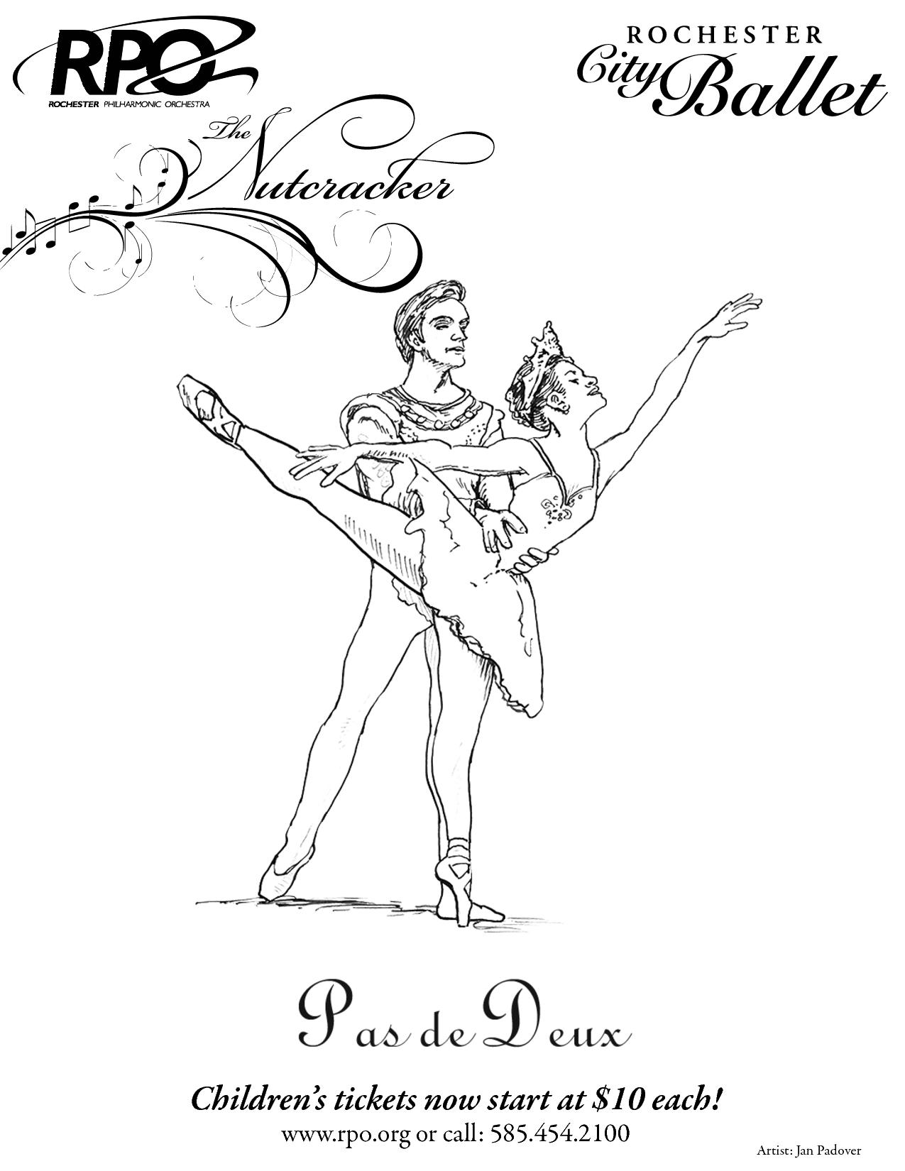 ballerina nutcracker coloring page coloring home