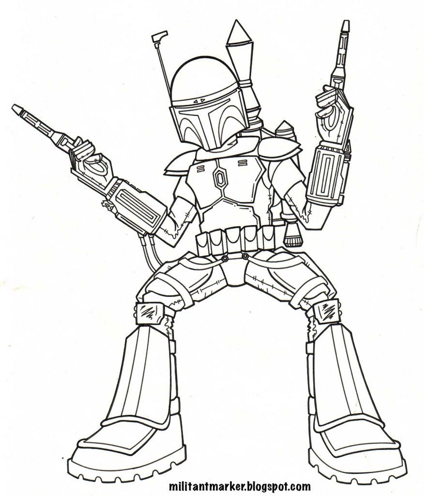 Jango Fett - Coloring Pages for Kids and for Adults