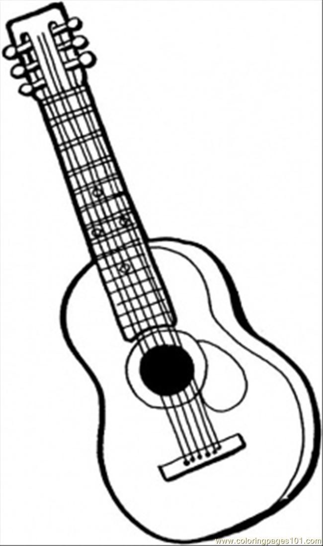 Studying Free Music Coloring Pages Personalized Guitar