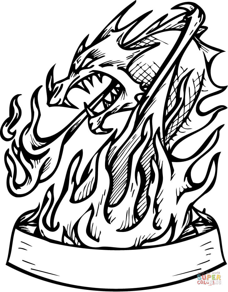 flames coloring pages