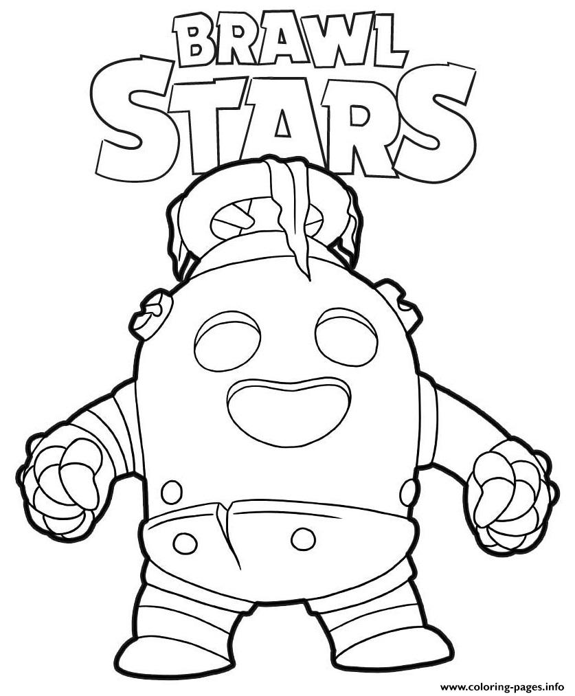 Robo Spike Brawl Stars Coloring Pages Printable