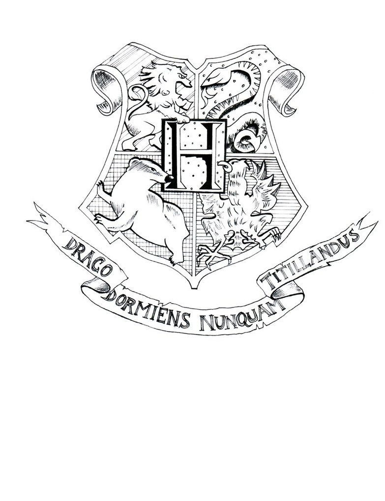 hogwarts crest coloring page coloring home