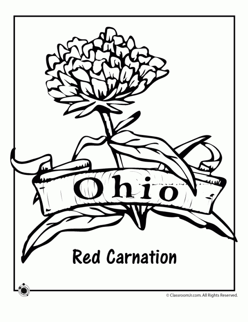 Ohio State Coloring Pages Coloring Home Coloring Coloring Pages