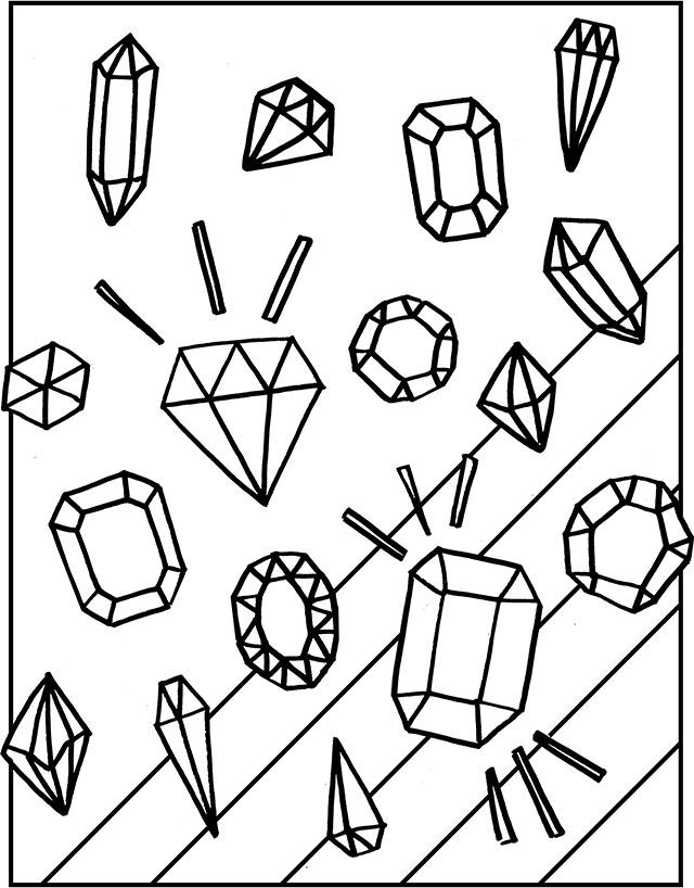 Free Gemstones Coloring Page | Coloring pages, Free ...