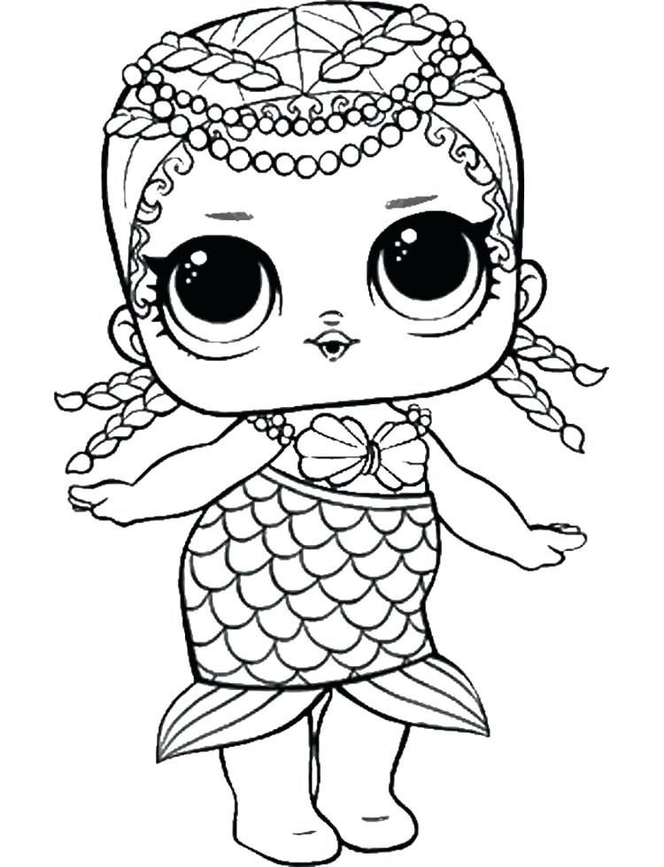 Merbaby Lol Doll Coloring Page Free Printable Coloring Pages For Coloring Home