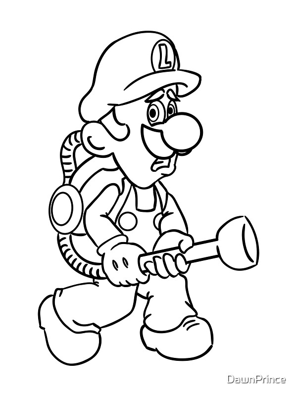 Luigis mansion coloring pages to print