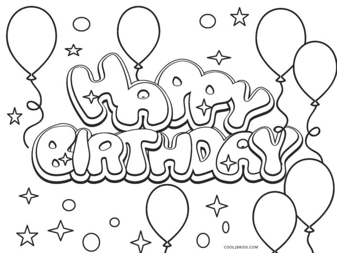 Happy Birthday Boy Coloring Pages - Coloring Home