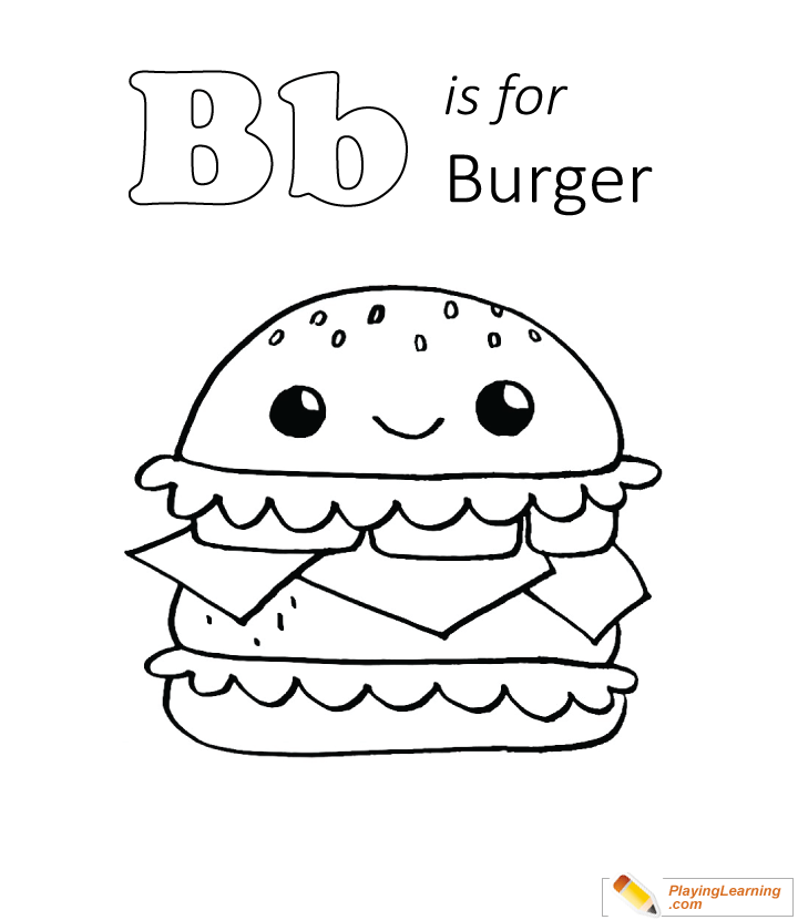 Burger Coloring Pages - Coloring Home