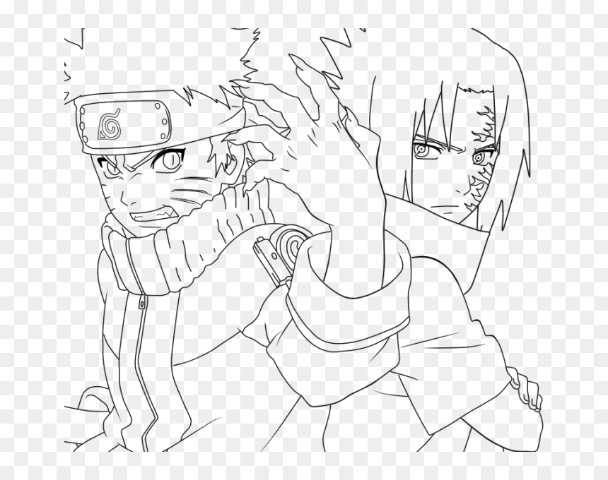 Sasuke Uchiha Naruto Coloring Pages, HD Png Download - vhv