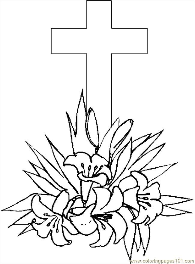 7 Pics Of Cute Cross Easter Coloring Pages