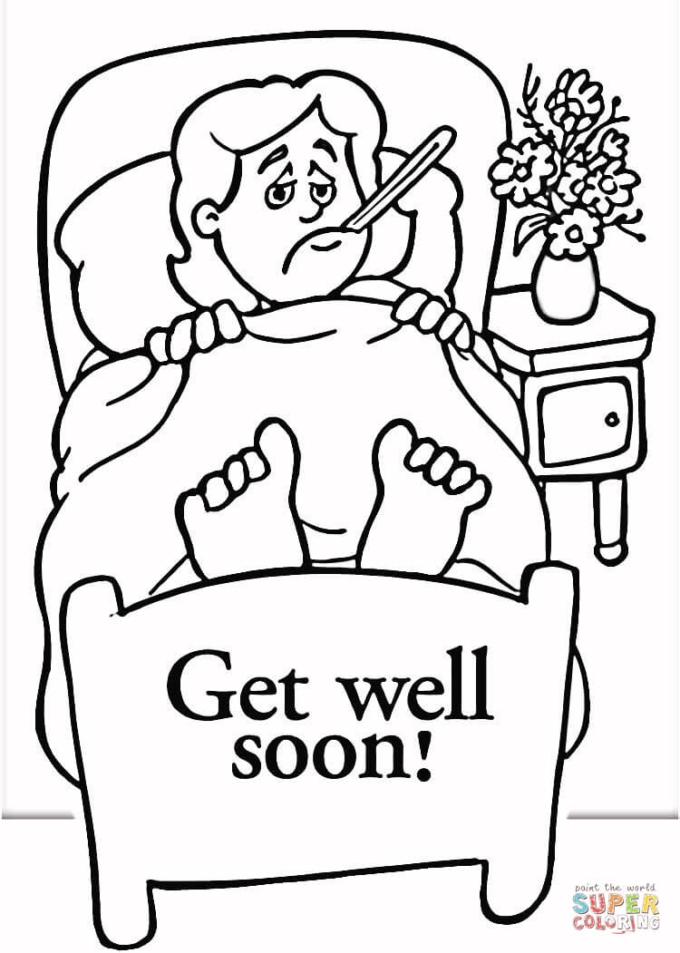 Get Well coloring page | Free Printable Coloring Pages