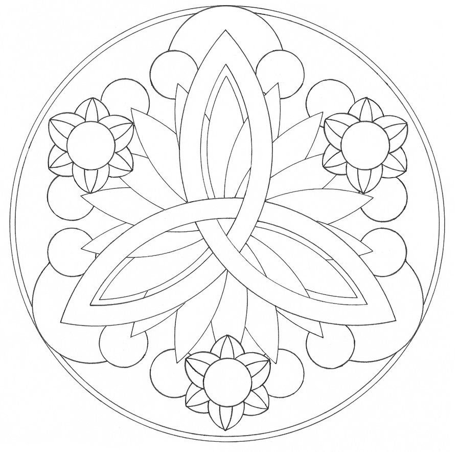 9 pics of easy mandala designs coloring pages simple mandala